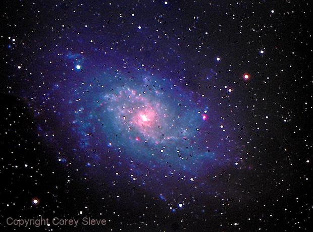 M33 Triangulum Galaxy LRBG,                                Corey Sleve