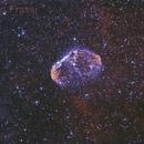 Crescent Nebula in Hα - OIII,                                Roberto Frassi