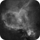 Start of a new project - Ha layer of a 2x2 panel mosaic of IC1805,                                Bart Delsaert