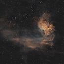 IC 405 • Flaming Star Nebula SHO,                                Mikael De Ketelaere