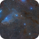 IC 4592 Blue Horsehead -Two Panels Mosaic,                                Alberto Pisabarro