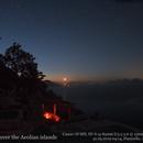 Milky way over the Eolian Islands (Italy),                                Ulli_K