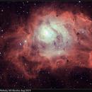M8, Lagoon Nebula, HO Bicolor, Aug 2019,                                David Dearden