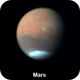 Orographic clouds over the shield volcanoes on Mars,                                Niall MacNeill