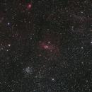 2014 M52 NGC7635 Aut06 with Scopos APO TL805 + WO 0.8X + 550D,                                Rocco Parisi