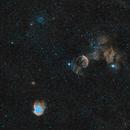 NGC2174, IC443 & M35 - Nébuleuse de la tête de singe, La méduse,                                ZlochTeamAstro