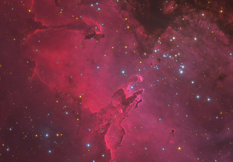 Messier 16 and The Pillars of Creation in HαLRGB,                                Connor Matherne