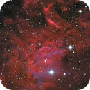 IC 405, a detail from the flaming star nebula,                                Thomas Wahl