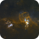 NGC 3576 - The Statue of Liberty Nebula - Now with Chile Scope Data,                                Paul Hancock