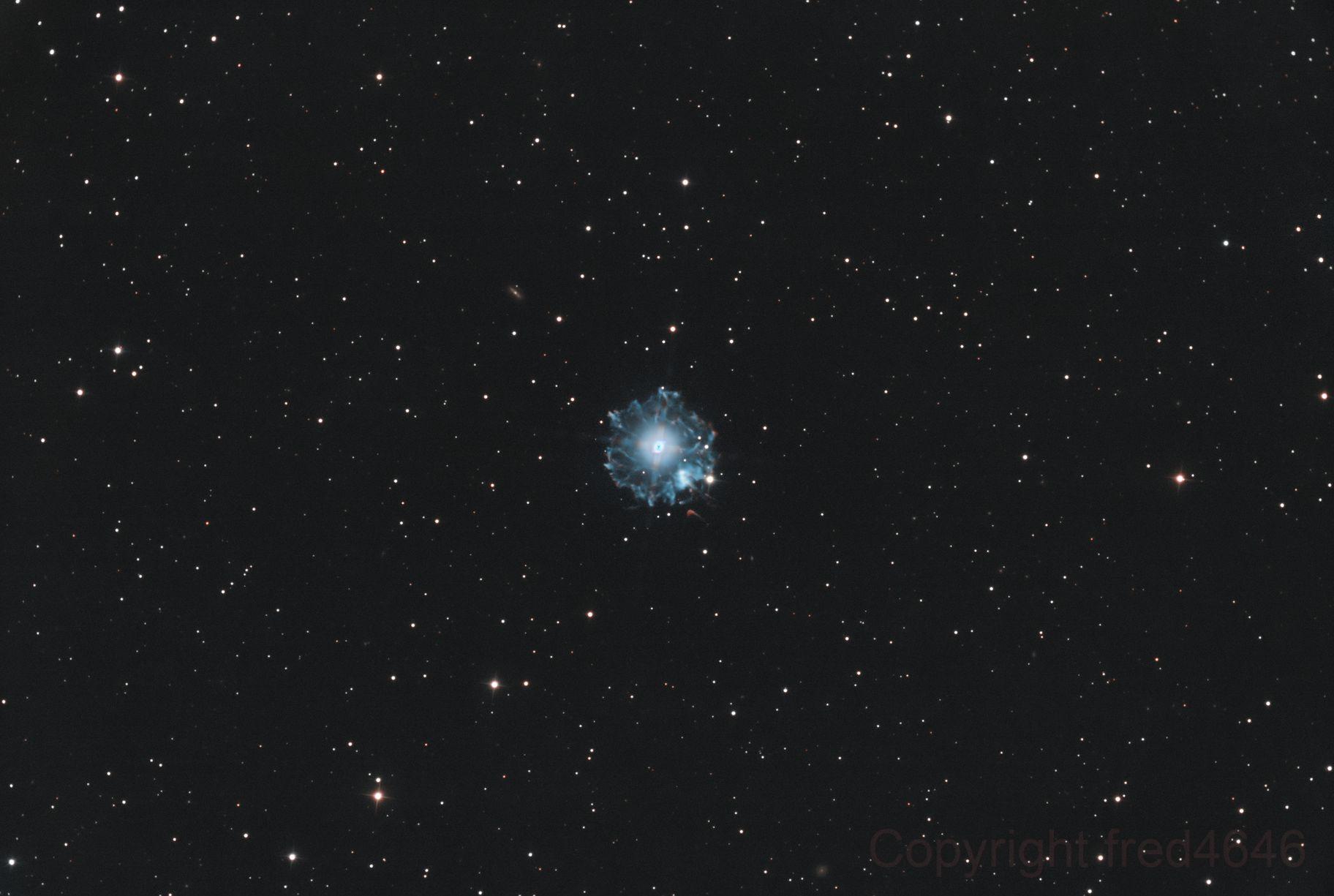 NGC6543 La nébuleuse de l'Œil de Chat,                                LAMAGAT Frederic