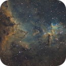 Melotte 15, in the centre of IC 1805,                                Jordan Marlière