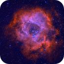 Rosette Nebule in HOO narrowband,                                gmelikian