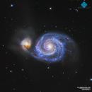 M51 Whirpool Galaxy LRGB,                                Francesco di Biase