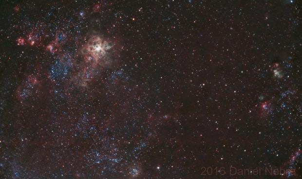 Tarantula Nebula with ED80 (Moon @ ~59%)...,                                Daniel Nobre