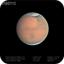 Mars from Chilescope, 12 July 2018,                                Dzmitry Kananovich