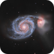 Whirlpool galaxy with DSLR,                                Bowen Cameron
