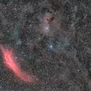Mosaïque NGC1499 & M45,                                Philippe BERNHARD