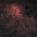 Sharpless 2-132 - a faint emission nebula in Cepheus (HaLRGB),                                Steve Milne