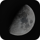 Moon at 50%: my first lunar Pixinsight image.,                                Brian Boyle