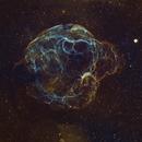Spaghetti Nebula, Sh 2-240, in SHO palette,                                Patrick Hsieh