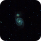 "M 51 - ""The Whirlpool Galaxy"" in Canes Venatici,                                gigiastro"