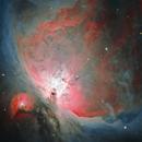 Orion Up Close... ish (HaOIIIRGB),                                John Renaud