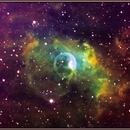 NGC 7635 (the Bubble Nebula) Tone Mapped Narrowband,                                Antonio.Spinoza