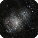 Messier 42, Messier 43 and NGC 1977,                                rellawsky