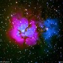 m20 nebulosa trifida nel sagittario                              distanza 5..200  A.L.,                                Carlo Colombo