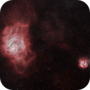 M8 and M20 in HαHßHß - RGB stars,                                Uwe Deutermann