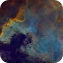 Mexico Bay of North America Nebula (NGC 7000) - Extreme Stretch,                                Miles Zhou