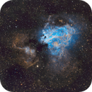 M17 The Omega Nebula - HOS RGB Composite Image,                                JohnAdastra