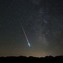 Etoile filante et Voie Lactée au plateau de Beille,                                Sagittarius_a