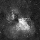 M17 - Omega Nebula Halpha,                                Manfred Fellner