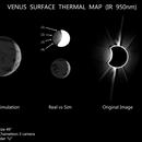 Dark side of Venus - planet surface thermal map,                                Łukasz Sujka
