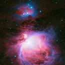 Orion, Drizzled dual-narrowband OSC data,                                Björn Hoffmann