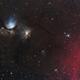 M78 - Barnard Loop part - Blue reflection Versus Red blowing wind,                                Jocelyn Podmilsak
