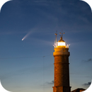"Neowise over the Lighthouse (Cabo Mayor, Santander) ""crop"",                                Vega"