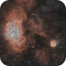 The Lagoon and Trifid Nebulae - HOO Combination,                                Julien Lana