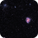 NGC 6946 (Fireworks Galaxy) & NGC 6939 (Open Cluster),                                Mike Brady