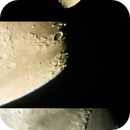 Moon with prime focus, 25mm and 10mm,                                Kharan