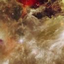 NGC2237 RosetteNebula  7 IR panels Mosaic,                                MauroSky