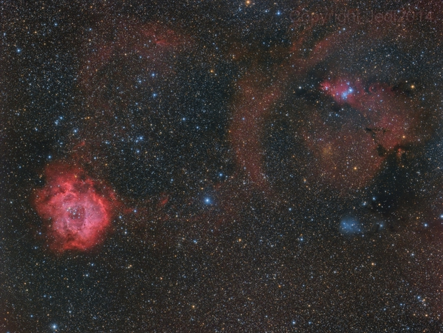From Rosette to Cone - NGC 2244 - NGC 2264,                                Jens Zippel