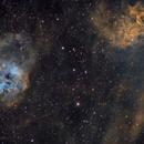 IC405 - L'étoile flamboyante/ IC410 - les tétards,                                ZlochTeamAstro