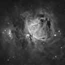 Messier 42/43 Orion Nebula & Running Man - H-Alpha,                                Ray Caro