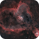 IC 1805 Heart Nebula - NB - Esprit 80 - ASI1600MM - Wide Field,                                Rowland Archer