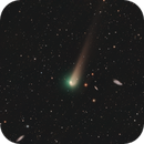 Newly Processed Data on Old comet C/2017 T2 PanSTARRS passes through a Galaxy field in UMa,                                Dan Bartlett