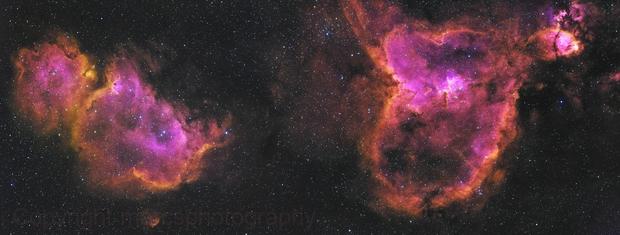 Heart and Soul Nebula 2 Panel Mosaic (Melotte 15 & Sh2-199),                                Marc Schuh