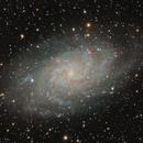 M33 Ha+R G B,                                Matteo Quadri