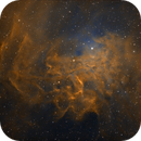 IC 405 Flaming Star Nebula SHO,                                Dan Kusz